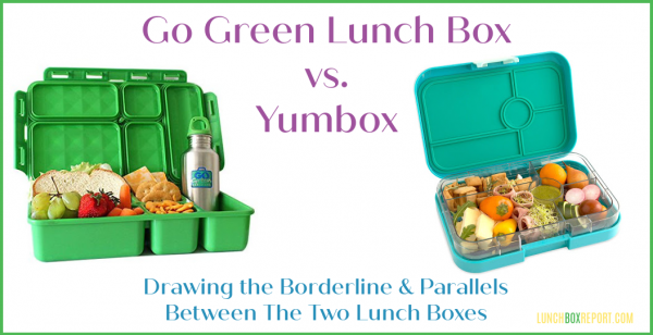 Go Green Lunch Box vs Yumbox – Drawing the Borderline & Parallels